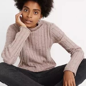 Madewell Donegal Evercrest Turtleneck Sweater in Coziest Yarn size L